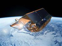 ESA Erdbeobachtungssatellit CryoSat-2 in 700km Höhe. Bild: obs/European Space Agency ESA/ESOC