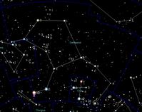 Die Position von Alpha Centauri am Sternenhimmel