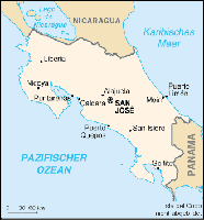 Karte von Costa Rica Bild: de.wikipedia.org