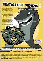 Hai des Jahres 2010: Siemens AG Bild: erlassjahr.de e.V.