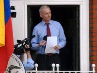 Assange auf dem Balkon der ecuadorianischen Botschaft in London am 19. August 2012.