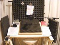 Beispiel eines Aufnahmeplatzes für professionelle Lesungen für ein Hörbuch.