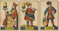 Hofkarten der Farbe Eichel eines Deutschschweizer Blatts um 1880