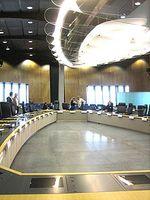Hauptbesprechungszimmer der Europäischen Kommission im Berlaymont-Gebäude. Bild: JLogan / wikipedia.org