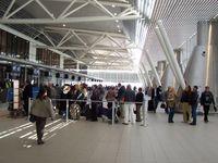 Flughafen von Sofia: Der Check-in-Bereich des Terminal 2