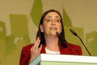 Kerstin Müller bei der Landesdeligiertenkonferenz der Grünen zur Bundestagswahl 2009 in Krefeld, Dezember 2008