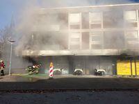 Brand Rathausplatz Bild: Feuerwehr