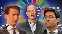 Bild: Schwab & Rösler: beide World Economic Forum, Wikimedia Commons, CC BY-SA 2.0; Kurz: Michael Lucan, Wikimedia Common, CC BY-SA 3.0 DE; Collage: Wochenblick/Eigenes Werk