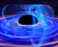 Umgebung eines schwarzen Lochs als künstlerische Vision. Bild: NASA
