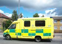 Eine Ambulanz in England