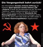 Die Vergangenheit kehrt zurück: Linksradikale Antonio-Amadeu-Stiftung beschäftigt heute noch eine Stasi-Mitarbeiterin aus DDR Zeiten, die die Bundesregierung, Schulen und Kindergärten berät.