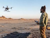 """Tests mit Drohnen, die dank Infrarotkameras Minen entdecken können. Bild: """"obs/Handicap International/John Fardoulis / HI"""""""