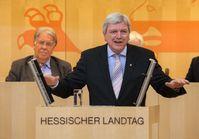 Volker Bouffier 2013 bei einer Rede im Hessischen Landtag