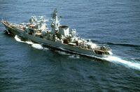 Kertsch, letzter noch im Dienst befindlicher und stark modifizierter Raketenreuzer der Kara-Klasse