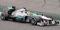 Nico Rosberg bei den Testfahrten im neuen Mercedes F1 W04 in Barcelona