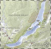 Karte des Baikalsees