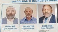 Gleiche Namen, gleiche Gesichter, aber 3 verschiedene Personen.