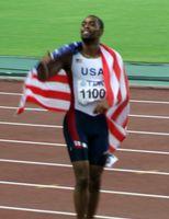 Tyson Gay als Sieger bei den Leichtathletik-Weltmeisterschaften 2007