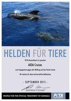 """""""Helden für Tiere""""-UrkundenBild: PETA"""