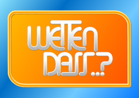 """""""Wetten, dass..?""""-Logo"""