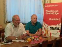 Hermann Schaus, MdL, und Dietmar Schnell, Kreisvorsitzender DIE LINKE Vogelsberg