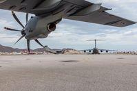 Mehrere A400M des Lufttransportgeschwaders 62 aus Wunstorf fliegen nach Sturm IRMA Hilfsgüter aus Eindhoven nach St Maarten.