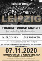 Plakat Querdenken 341 für Demo in Leipzig am 7.11.20