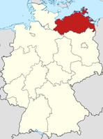 Lage von Mecklenburg-Vorpommern in Deutschland