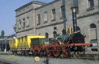"""Nachbau des """"Adler"""", der bei dem Brand des Fahrzeugdepots des Nürnberger DB Museums zerstört wurde"""