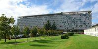 Südseite der WHO-Zentrale in Genf
