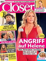 "Cover Closer 7/2018. Bild: ""obs/Bauer Media Group, Closer/Closer"""
