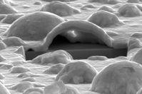 Blick in das Innere einer Platinblase.