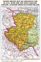 Westukraine 1940 (annektierte polnische Gebiete in gelb)