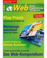 """Cover der Zeitschrift """"c't Web 2015 """""""