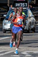 Wilson Kipsang Kiprotich beim Weltrekord-Lauf, Berlin-Marathon 2013