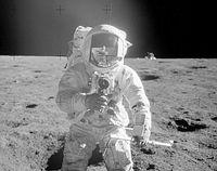 Apollo-Astronaut: Mondstaub nach wie vor ein Problem. Bild: NASA