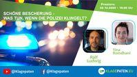 """Bild: SS Video: """"🔴 Klagepaten TV #22: Ralf Ludwig: Schöne Bescherung - was tun, wenn die Polizei klingelt? mit Tina R"""" (https://youtu.be/EFh2jkPKbTQ) / Eigenes Werk"""