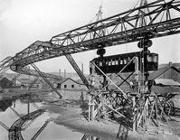 Bereits 1898 wurden die ersten Probewagen in Varresbeck ans Gerüst gehängt. Bild:     WSW Wuppertaler Stadtwerke GmbH