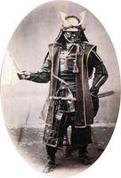 Samurai in voller Rüstung (1860), Symbolbild