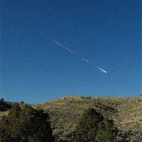Bild: Lisa Warren, NASA/JPL/Associated Press. Der Meteor Sutter's Mill am Himmel über Reno, Nevada am 22. April 2012. Quelle:  (idw)