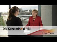 "Screenshot aus dem Youtube Video ""Merkel: ""Jugend forscht"" fördert Exzellenz"""