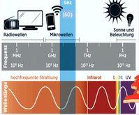 5G bewegt sich in einem breiten Mikrowellensprekturm, daß auf Tiere, Pflanzen und Menschen einfluß hat. Untersucht wurde dahingehend praktisch gar nichts (Symbolbild)