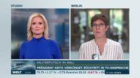 """Bundesverteidigungsministerin Annegret Kramp-Karrenbauer am 19.08.2020 auf WELT im Gespräch mit Angela Knäble.  Bild: """"obs/WELT/WeltN24 GmbH"""""""