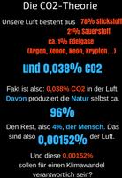 Klimawandel und Gewichtung von CO2: Es gibt keinen Zusammenhang zwischen Warm- und Kaltphasen und dem Gehalt von CO2 in der Luft (Symbolbild)