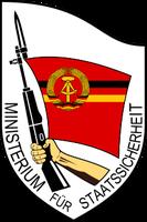 Wappen des Ministeriums für Staatssicherheit der DDR Bild: jgaray, based on Nickel Chromo's raster design from the original .jpg by en:User:Wiggy! / de.wikipedia.org