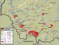 Karte vom Saarland