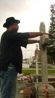 Vodou-Ritual auf einem Friedhof in New Orleans zum Dank an die Geister des Todes für den gut überstandenen Hurrikan Gustav. Bild: Dr. Thiele