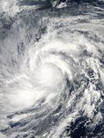 Taifun Haiyan am 8. November über den Philippinen