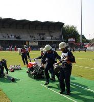 Die Mannschaft aus Nidderau-Eichen (Hessen) erhielt beim Traditionellen Internationalen Feuerwehrwettbewerb der CTIF-Olympiade 2013 in Mulhouse/Frankreich eine Goldmedaille.
