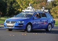 Autonomes Fahrzeug auf Erprobungsfahrt